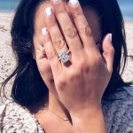 Lea Michele's 4 Carat Emerald Cut Diamond Ring