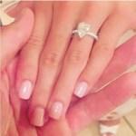 Josie Loren's Pear Shaped Diamond Ring
