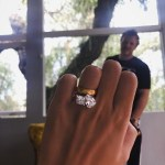 Emily Ratajkowski's 2-Stone Diamond Ring