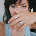 Katharine McPhee's Emerald Cut Diamond Ring