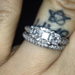 Nicole Boyd's Square Shaped Diamond Ring