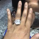Kesha Ward's Asscher Cut Diamond Ring
