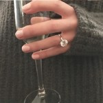 Ryanne Breton's Round Cut Diamond Ring