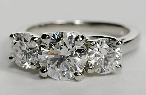 Three Stone Trellis Engagement Ring Engagement Ring Wall