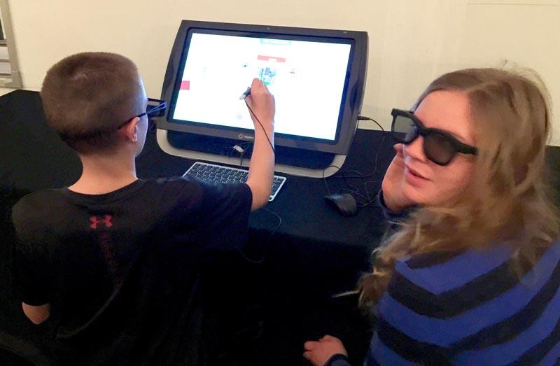 checking out zSpace virtual reality