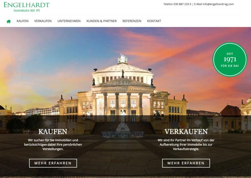 Neue Webseite Engelhardt Immobilien KG