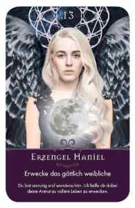 Gratis Kartenlegen Kraft der Engel Orakel Karte 13 Erzengel Haniel