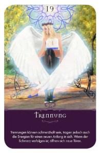 Gratis Kartenlegen Kraft der Engel Orakel Karte 19 Trennung