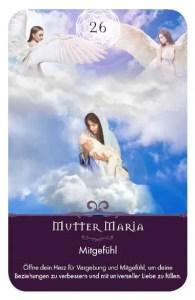 Gratis Kartenlegen Kraft der Engel Orakel Karte 26 Mutter Maria