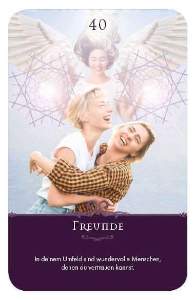 Gratis Kartenlegen Kraft der Engel Orakel Karte 40 Freunde