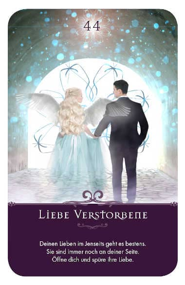 Gratis Kartenlegen Kraft der Engel Orakel Karte 44 Liebe Verstorbene
