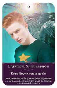 Gratis Kartenlegen Kraft der Engel Orakel Karte 6 Erzengel Sandalphon