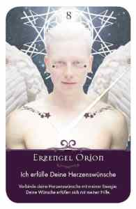 Gratis Kartenlegen Kraft der Engel Orakel Karte 8 Erzengel Orion