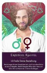 Gratis Kartenlegen Kraft der Engel Orakel Karte 9 Erzengel Raguel