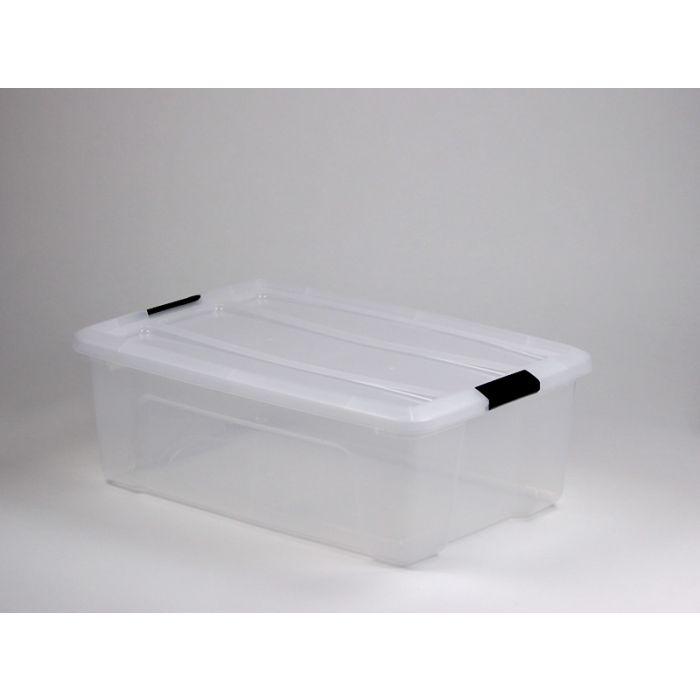 boite de rangement transparent avec couvercle 30l 58x40x21 cm