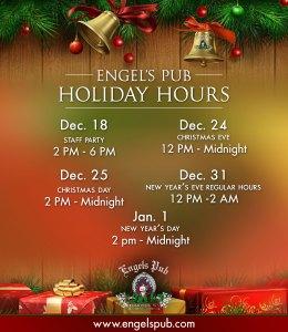 Engel's Pub Holiday Hours