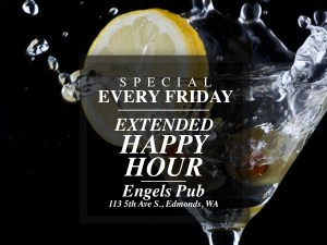 Extended Happy Hour at Engel's Pub Every Friday