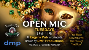 Open Mic Night at Engel's Pub Celebrating Phat Tuesday