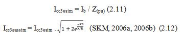Cálculo da corrente de curto circuito trifásico