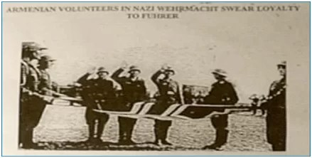 Führer'e bağlılıklarını bildiren Ermeni Gönüllüleri