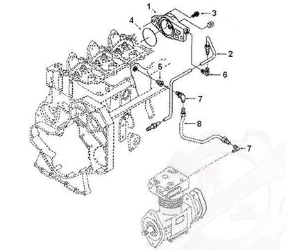 Air Compressor Water Tube C3978558, A3960893