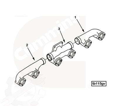 Exhaust Manifold 3252044, 3252045, 3252046
