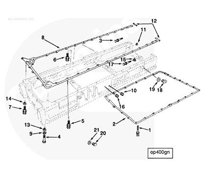 Oil Pan Gasket 3042590  Engine Parts