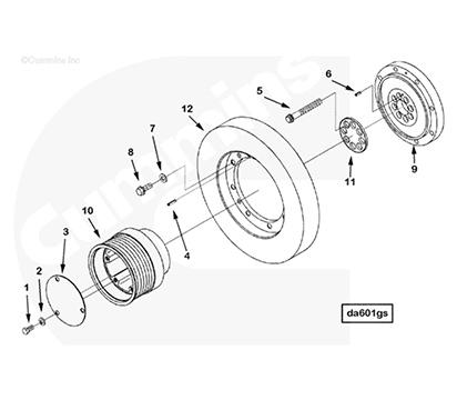 Vibration Damper C3628652  Engine Parts