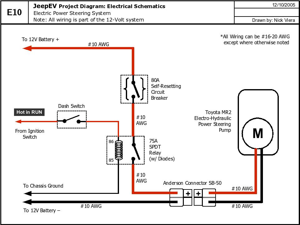 dpdt relay wiring diagram drayton zone valve electronic power steering conversion delete swap mr2