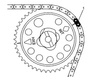 2 ecotec timing marks diagram 2006 ford escape hybrid radio wiring chain service procedures gm 2l l61 camshaft sprocket figure