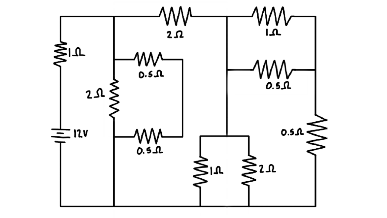 Equivalent Resistance of a Complex Circuit with Series and