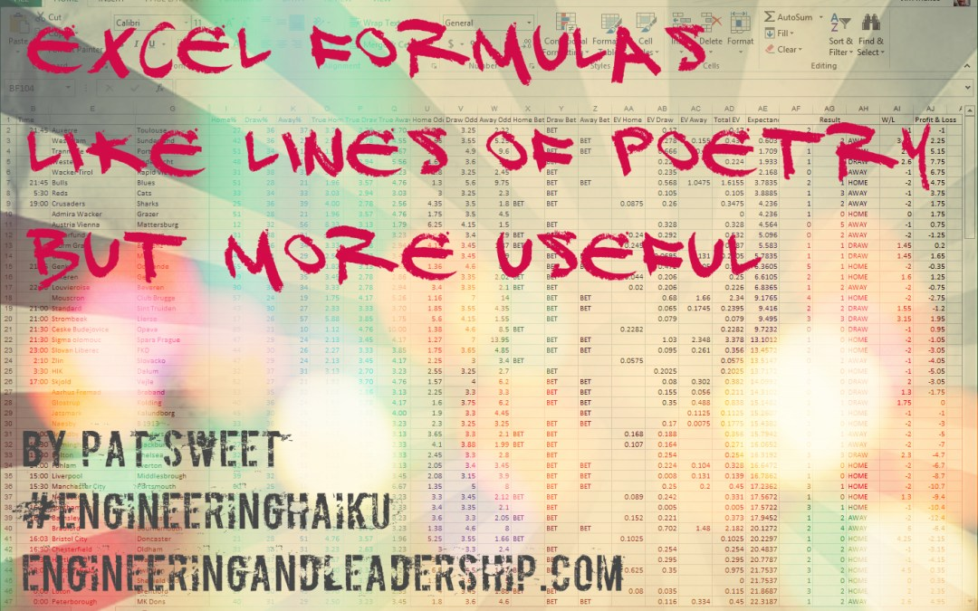 Excel Formulas – Engineering Haiku