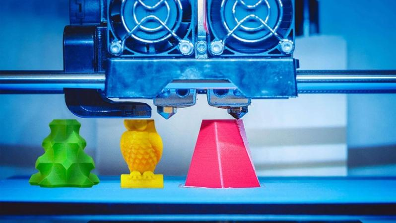 3D printing, or additive manufacturing, is the construction of a three-dimensional object from a CAD model or a digital 3D model.