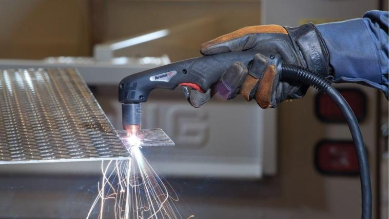Plasma cutting is a process in which electrically conductive materials are severed with an accelerated jet of hot plasma. Typical materials that are cut with a plasma torch include steel, stainless steel, aluminum, brass, and copper, although other conductive metals can also be cut.