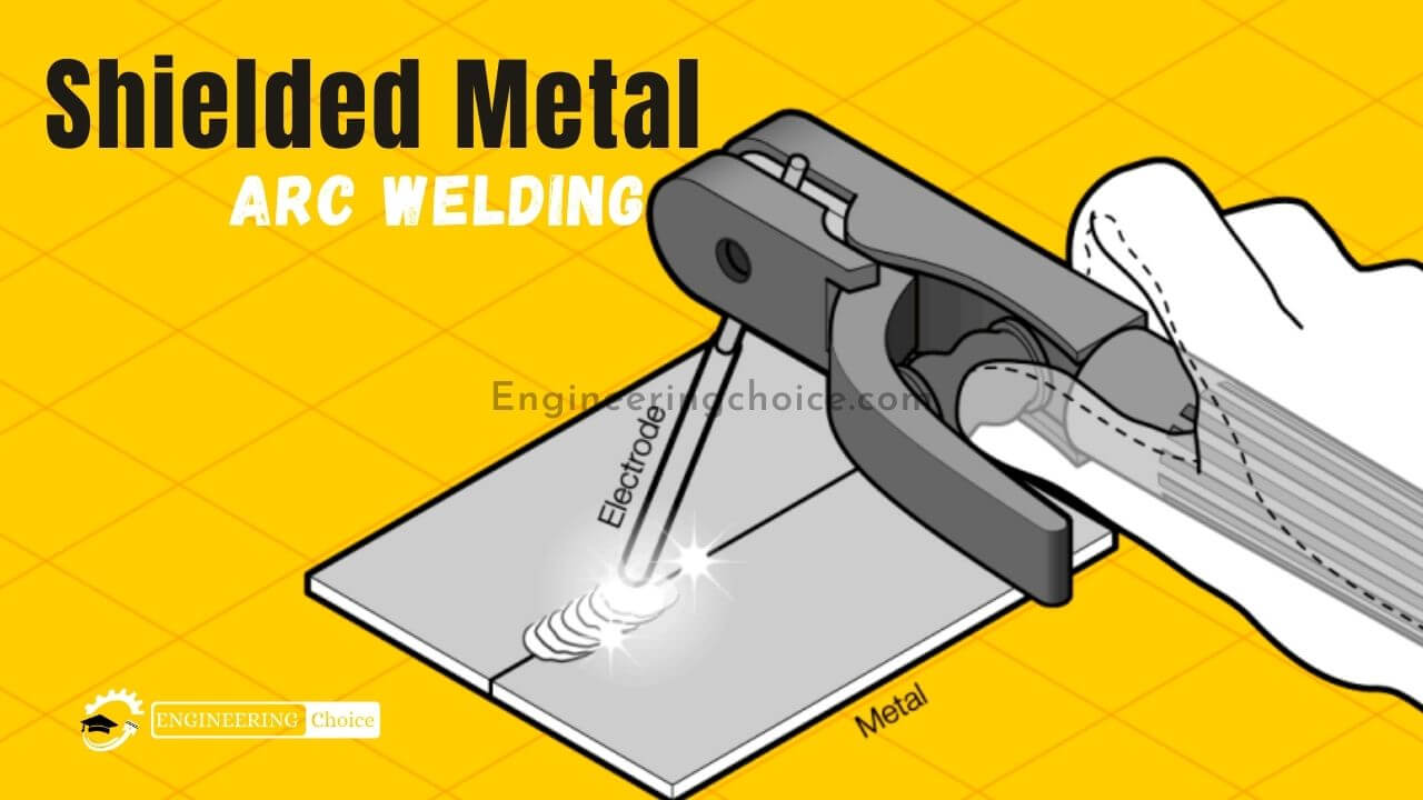 Shielded metal arc welding (SMAW), also known as manual metal arc welding (MMA or MMAW), flux shielded arc welding, or informally as stick welding, is a manual arc welding process that uses a consumable electrode covered with a flux to lay the weld.