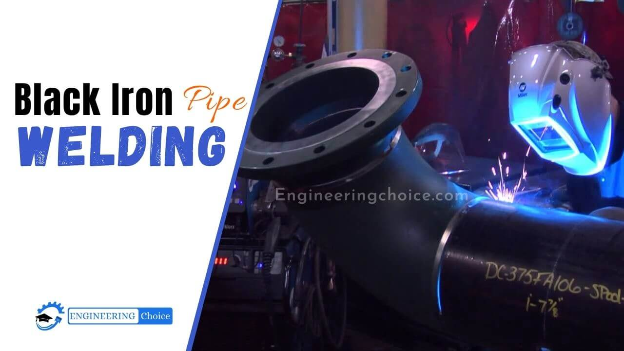 """You can weld black """"iron"""" pipe because it's made of mild steel, not iron. Black steel pipe can be welded using any welding method used for steel. This includes MIG, flux core, TIG, and stick arc welding."""