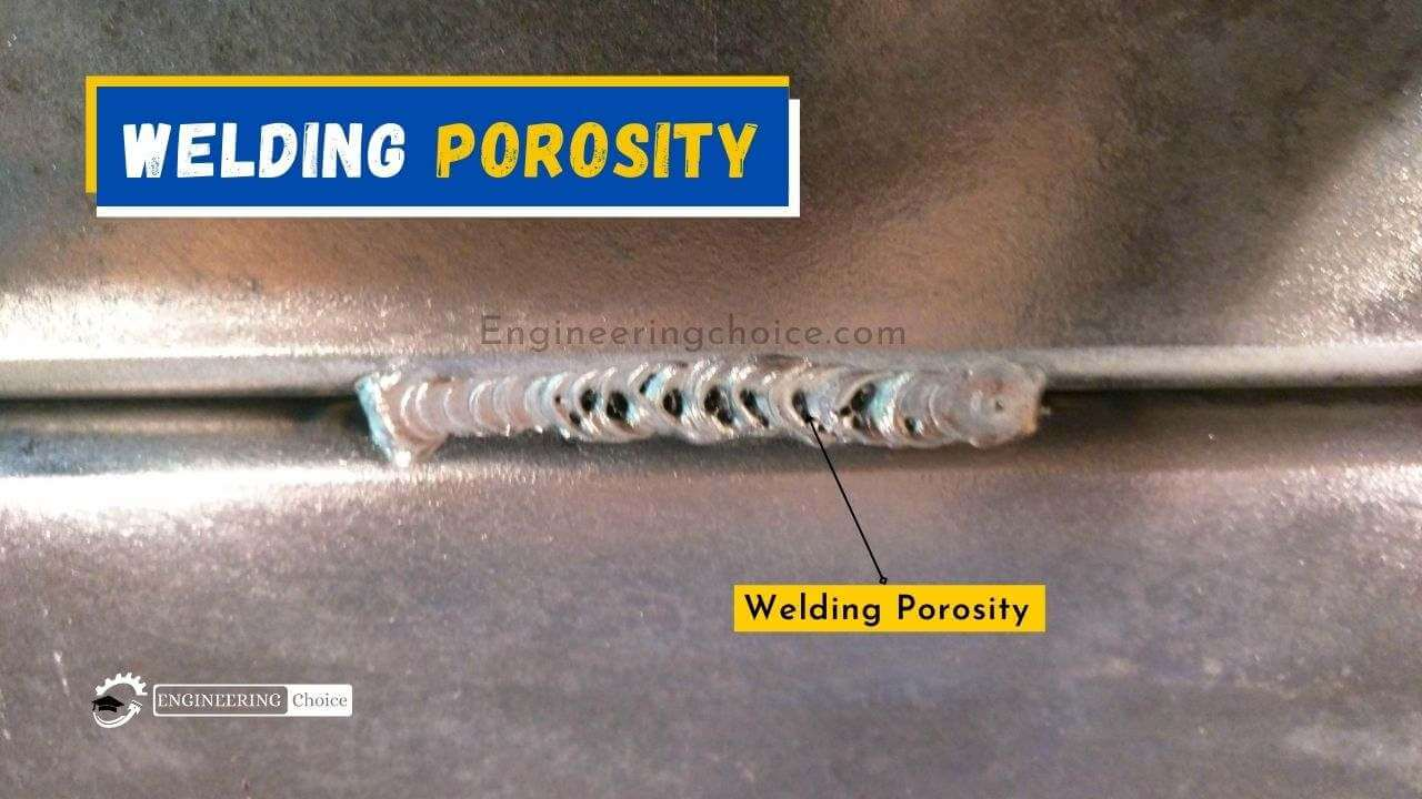 Welding Porosity is the presence of cavities in the weld metal caused by the freezing of gas released from the weld pool as it solidifies.