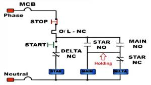 star delta control wiring without timer