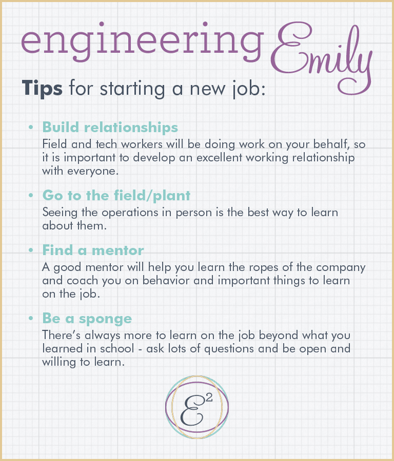 Tips - starting a new job