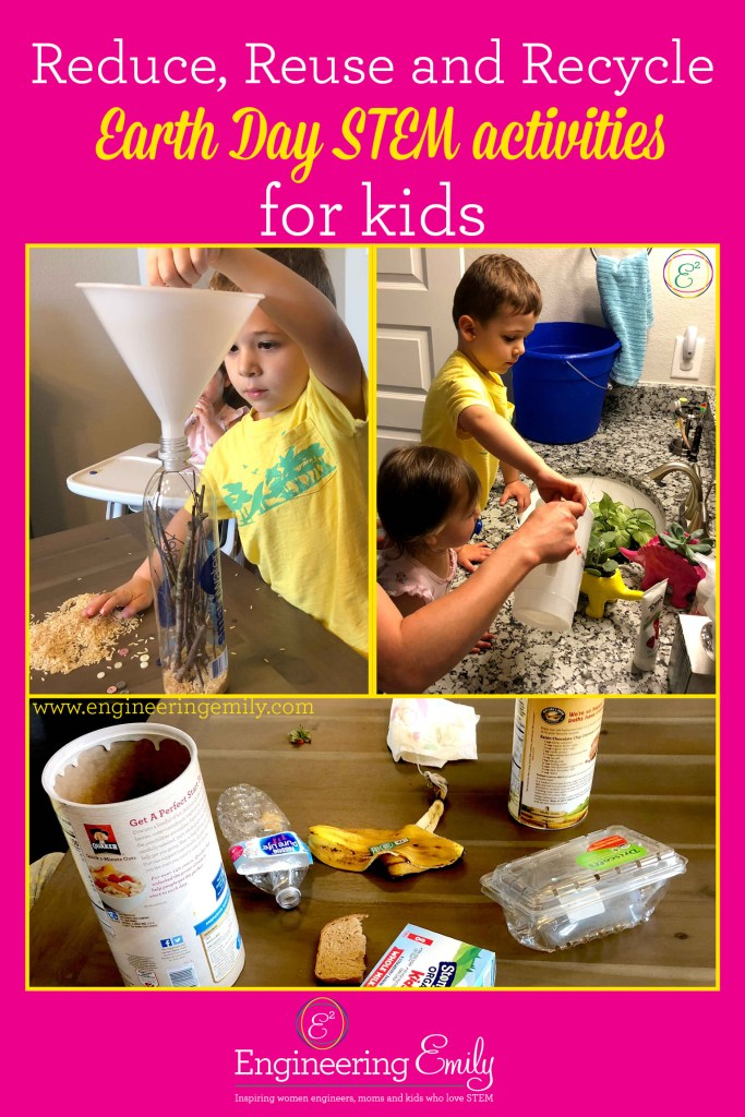 Reduce, Reuse and Recycle Earth Day STEM activities for kids