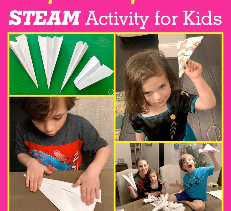 4 Simple & Fun Paper Airplanes | STEAM Activity for Kids