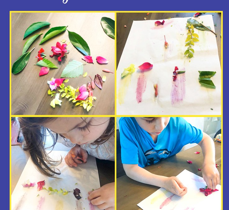 Coloring using Plants | Earth Day STEAM Activity for Kids