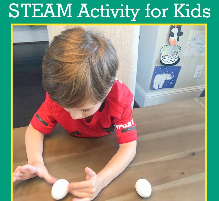 Spinning Eggs – is it hard boiled or raw?   STEAM Activity for Kids
