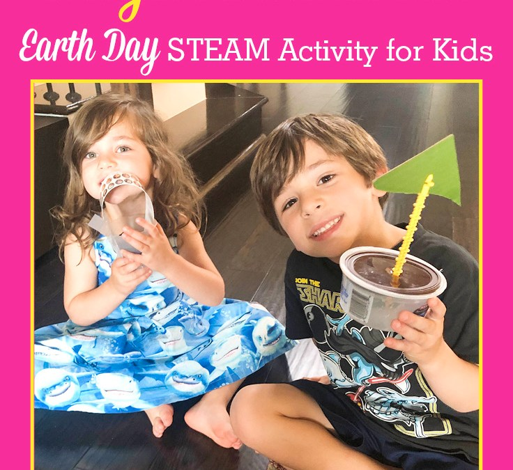Make a Boat using Recycled Materials   Earth Day STEAM Activity for Kids