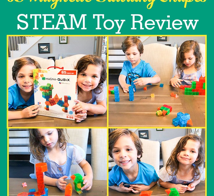 Magna-Qubix 3D Magnetic Building Shapes Set | STEAM Toy Review