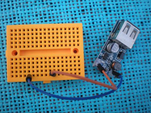 small resolution of breadboard layout with usb dc to dc booster circuit