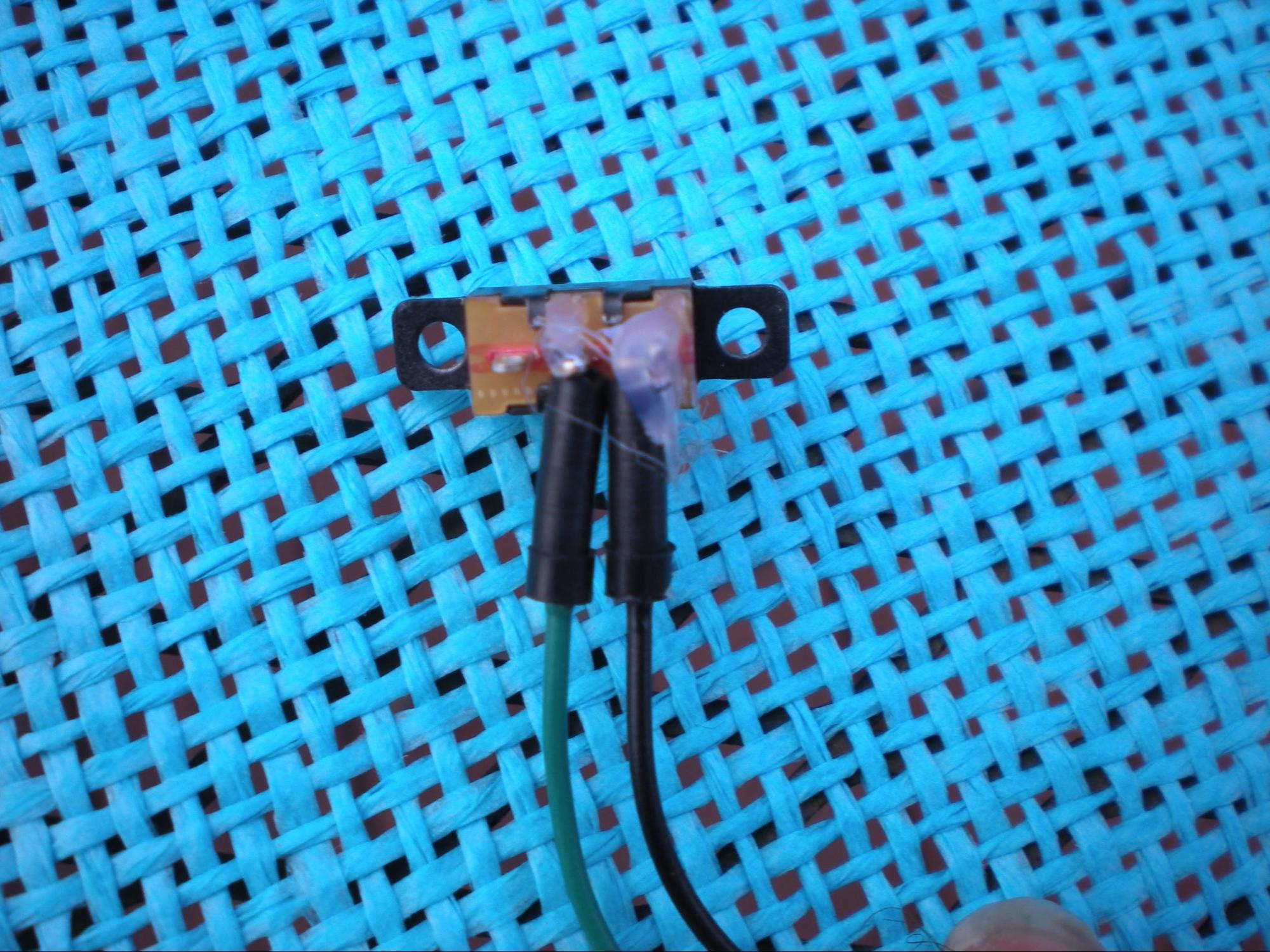 hight resolution of usb charger mini slide switch setup with soldered jumper wires and hot glue