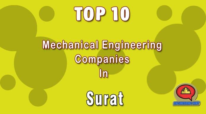Top 10 Mechanical Engineering Companies In Surat (Gujarat)