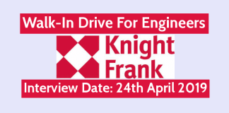 Knight Frank (India) Pvt Ltd Walk-In For Engineers Interview Date 24th April 2019