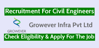 Growever Infra Pvt Ltd Recruitment For Civil Engineers Check Eligibility & Apply For The Job